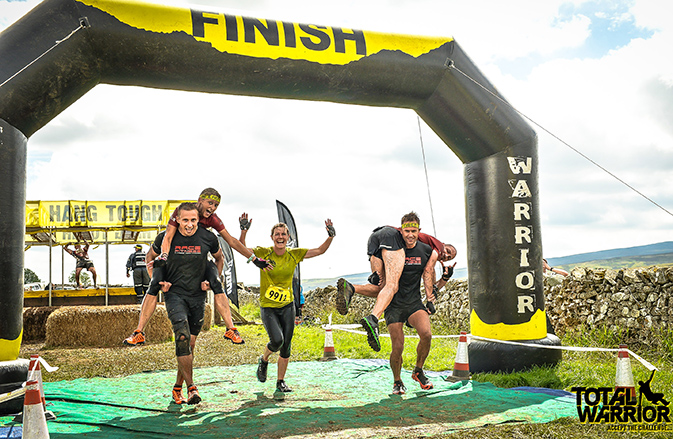 Total Warrior Lakes - Finish line